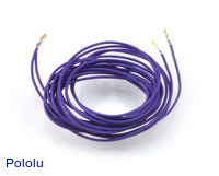 "Wires with Pre-crimped Terminals 2-Pack F-F 60"" Purple"
