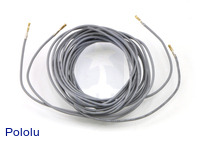 "Wires with Pre-crimped Terminals 2-Pack F-F 60"" Gray"