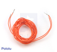 "Wires with Pre-crimped Terminals 2-Pack M-F 60"" Orange"