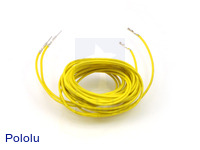 "Wires with Pre-crimped Terminals 2-Pack M-F 60"" Yellow"