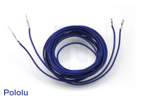 "Wires with Pre-crimped Terminals 2-Pack M-F 60"" Blue"