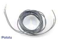 "Wires with Pre-crimped Terminals 2-Pack M-F 60"" Gray"