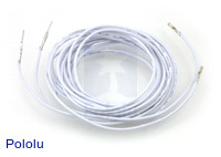 "Wires with Pre-crimped Terminals 2-Pack M-F 60"" White"