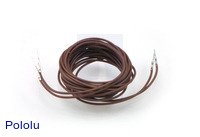 "Wires with Pre-crimped Terminals 2-Pack M-M 60"" Brown"