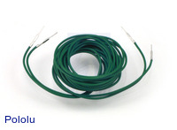 "Wires with Pre-crimped Terminals 2-Pack M-M 60"" Green"