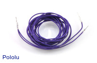 "Wires with Pre-crimped Terminals 2-Pack M-M 60"" Purple"