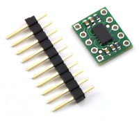 "MMA7361LC/MMA7341LC 3-axis accelerometer with included 10-pin 0.1"" male header strip."