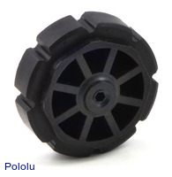 8-tooth plastic sprocket with 3-mm hex shaft hub.