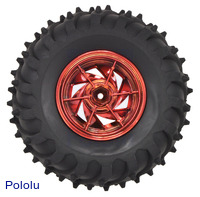 Dagu Wild Thumper wheel 120×60mm (metallic red) interior view.