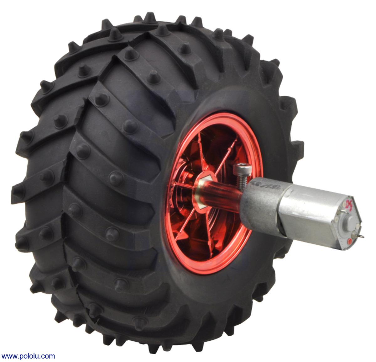 Pololu Dagu Wild Thumper Wheel 120x60mm Pair With 4mm Shaft