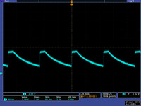 VOUT of the Pololu step-down regulator D24V3ALV when VIN is 5V and the output voltage setting is higher than 5V.