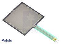 Force-sensing resistor (FSR): 1.5″ square.