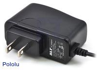 Wall Power Adapter: 5VDC, 1A, 5.5×2.1mm Barrel Jack, Center-Positive