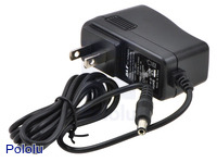 Wall Power Adapter: 12VDC, 1A, 5.5×2.1mm Barrel Jack, Center-Positive