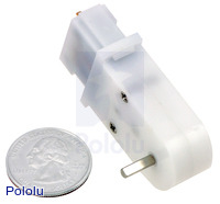 Mini plastic gearmotor 90-degree 3mm D-shaft output.