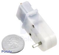 Mini plastic gearmotor 90-degree 3mm D-shaft output.