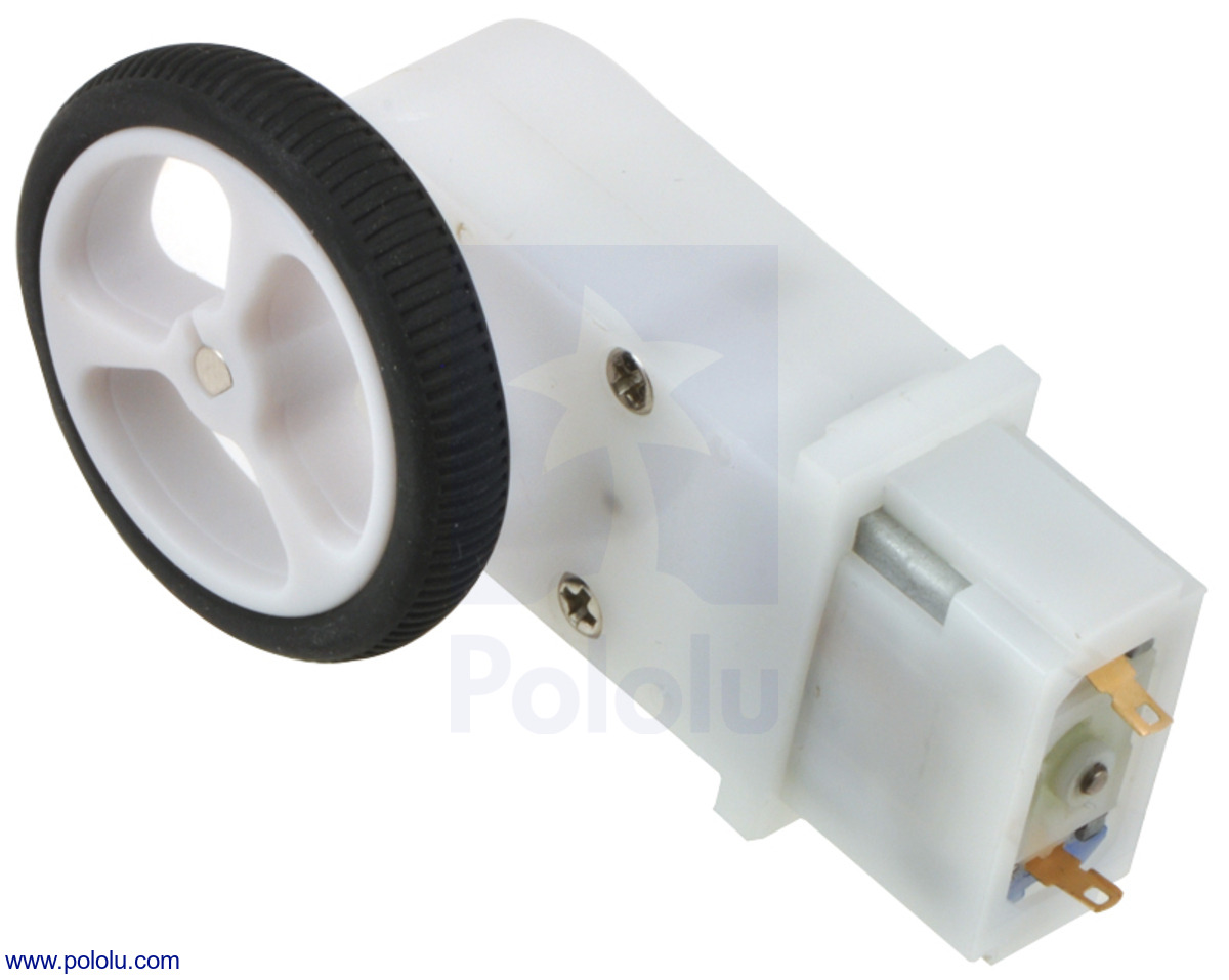 Pololu 120 1 Mini Plastic Gearmotor Offset 3mm D Shaft