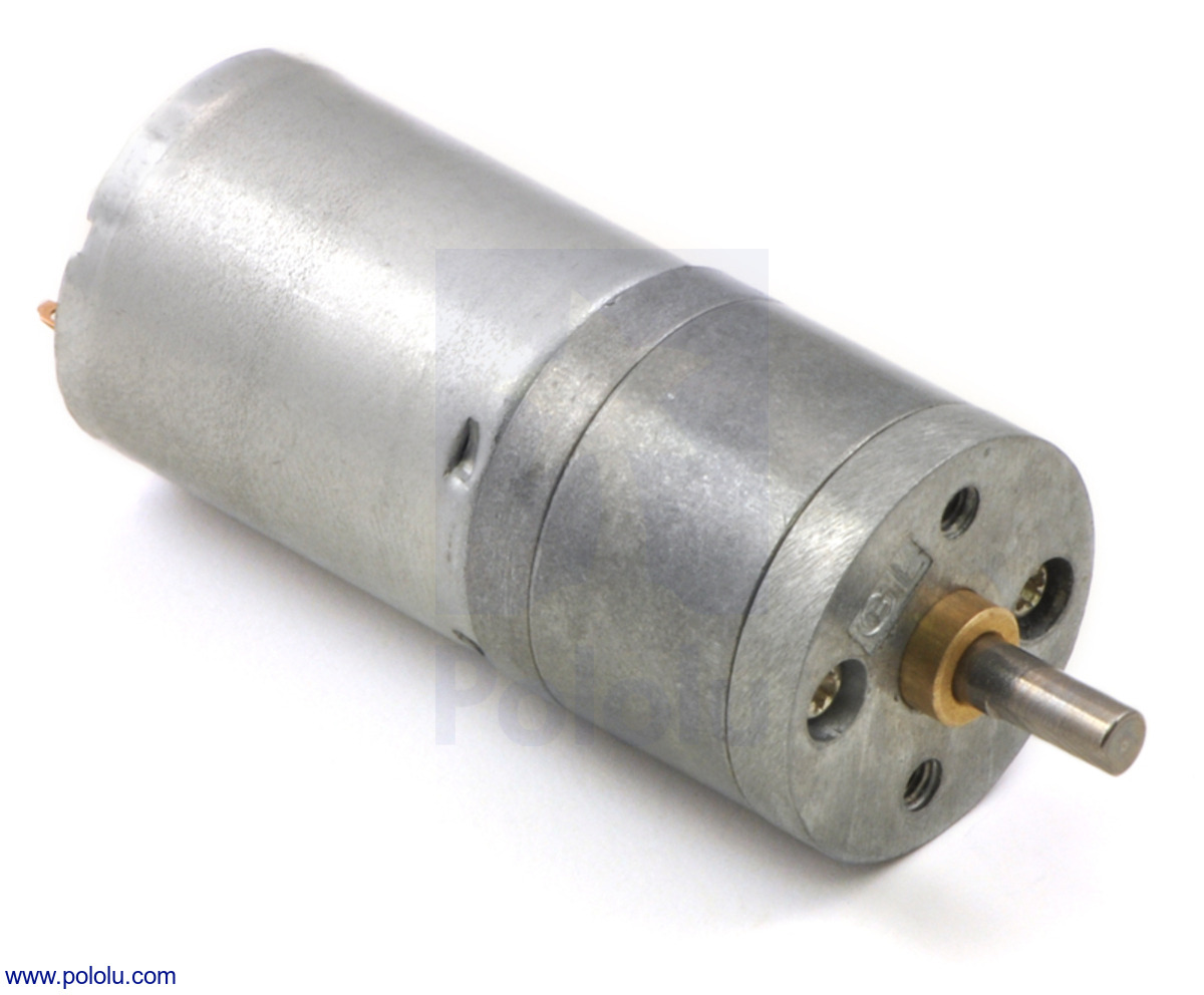 Pololu 75 1 metal gearmotor 25dx54l mm hp 6v for 1 4 hp dc motor