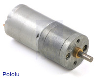 4.4:1 Metal Gearmotor 25Dx48L mm LP 6V