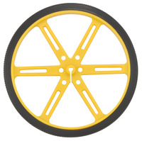 Pololu wheel 90×10mm – yellow.