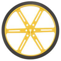 Pololu wheel 90×10mm – yellow.