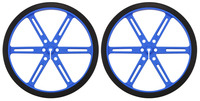 Pololu Wheel 90x10mm Pair - Blue