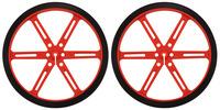 Pololu Wheel 90×10mm Pair - Red