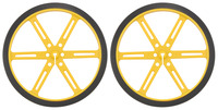 Pololu Wheel 90×10mm Pair - Yellow