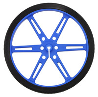 Pololu wheel 80×10mm – blue.