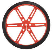 Pololu wheel 80×10mm – red.