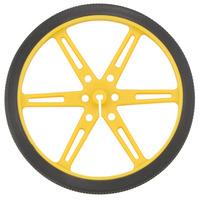 Pololu wheel 80×10mm – yellow.