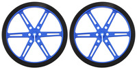 Pololu Wheel 80x10mm Pair - Blue