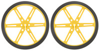 Pololu Wheel 80x10mm Pair - Yellow
