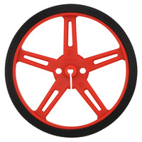 Pololu wheel 70×8mm – red.
