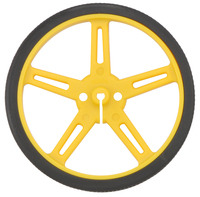 Pololu wheel 70×8mm – yellow.