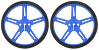 Pololu Wheel 70x8mm Pair - Blue