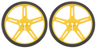 Pololu Wheel 70x8mm Pair - Yellow