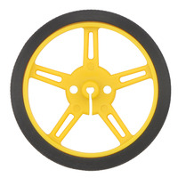 Pololu wheel 60×8mm – yellow.