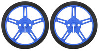 Pololu Wheel 60x8mm Pair - Blue