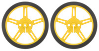 Pololu Wheel 60×8mm Pair - Yellow
