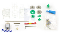 Tamiya 89916 4-speed crank-axle gearbox kit – clear.