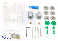Tamiya 89915 twin-motor gearbox kit  – clear.