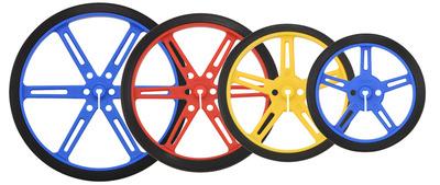 Pololu Wheel 90×10mm Pair-Black 1435