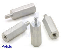 "Aluminum Standoff: 1/2"" Length, 2-56 Thread, M-F (4-Pack)"