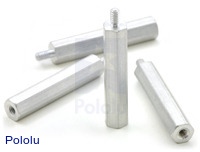 "Aluminum Standoff: 1"" Length, 2-56 Thread, M-F (4-Pack)"