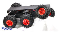 Dagu Wild Thumper 6WD All-Terrain Chassis, Black, 75:1