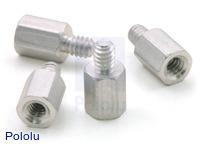 "Aluminum Standoff: 1/4"" Length, 4-40 Thread, M-F (4-Pack)"