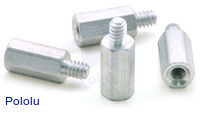 "Aluminum Standoff: 3/8"" Length, 4-40 Thread, M-F (4-Pack)"