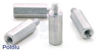 "Aluminum Standoff: 1/2"" Length, 4-40 Thread, M-F (4-Pack)"