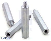 "Aluminum Standoff: 1"" Length, 4-40 Thread, M-F (4-Pack)"